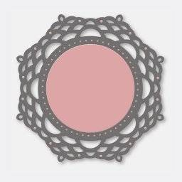 Stencil lace dies 3242 mirror | Couture creations