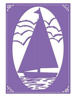 Embossing folder 3633 sail away | Couture creations