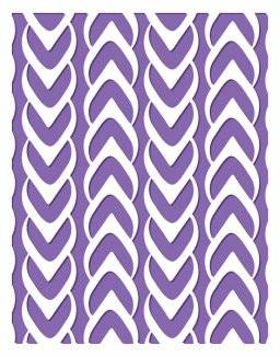 Embossing folder 3626 weaved | Couture creations