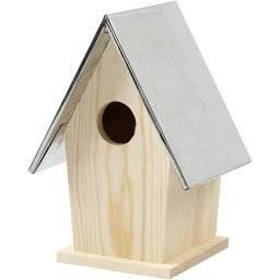 Vogelhuis metalen dak 577310