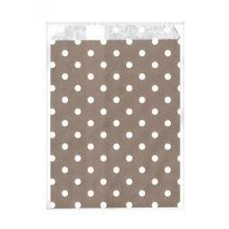 Papieren zakjes grijs/wit 518111