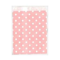 Papieren zakjes roze/wit 518110