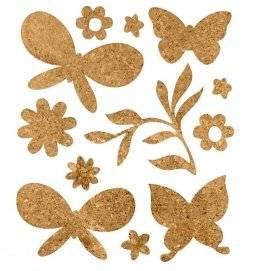 Stickers kurk 518174 vlinders