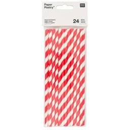 Papieren rietjes rood/wit 88.03 | Rico
