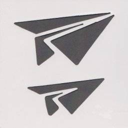 Sjabloon 10x10cm vliegtuig 3165