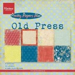 Pretty paper bloc 9120 old press | Marianne design