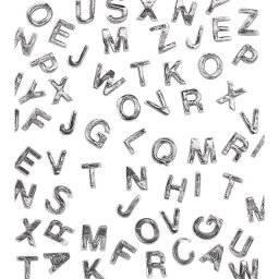 Was versiering letters zilver | Rayher