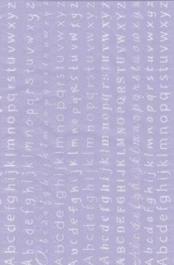 Gluepatch papier 641041 alfabet