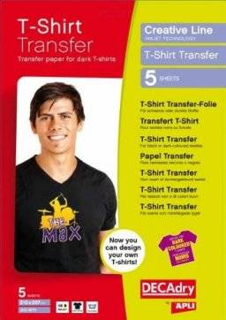 Tshirt transfer donker stof 4771   Apli