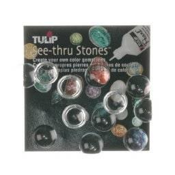 See-thru stones rond glad | Tulip
