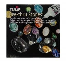 See-thru stones ovaal glad | Tulip