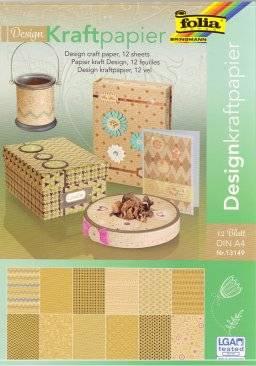 Design kraftpapier A4 blok 13149 | Folia