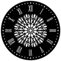 Uurwerksjabloon mandala 15070003 | Artemio