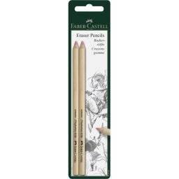 Set eraser pencils 2st 185698 | Faber castell