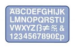 Lettersjabloon 30mm H93 | Helix