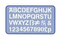 Lettersjabloon 20mm H92   Helix
