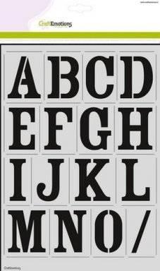 A4 sjabloon 2201 alfabet vintage | Craftemotions