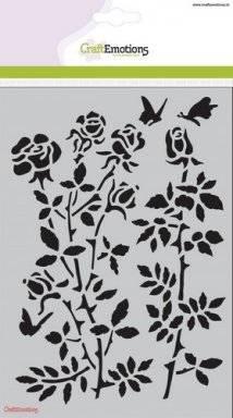Sjabloon 1235 rose garden   Craftemotions