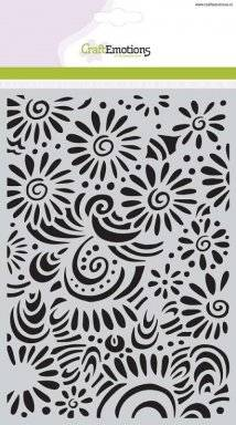 Sjabloon 1104 flower curves | Craftemotions