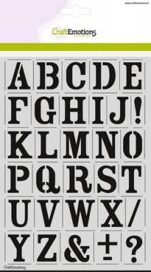 Sjabloon 2101 alfabet vintage | Craftemotions