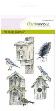 Clearstamps 1074 bird houses | Craftemotions
