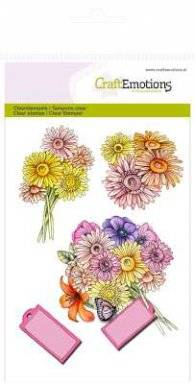 Clearstamps 1073 bouquet   Craftemotions
