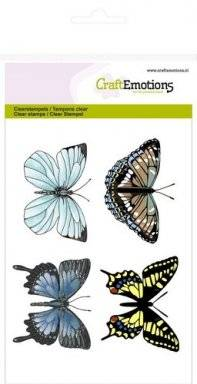 Clearstamps 1015 4 butterflies   Craftemotions