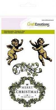 Clearstamps 1054 angel ornament | Craftemotions