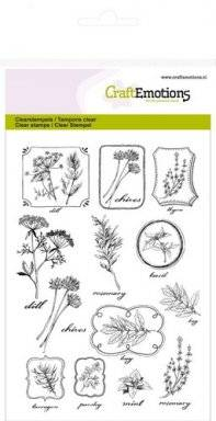 Clearstamps 1236 herbal labels | Craftemotions