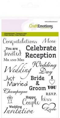 Clearstamps 1153 text wedding | Craftemotions