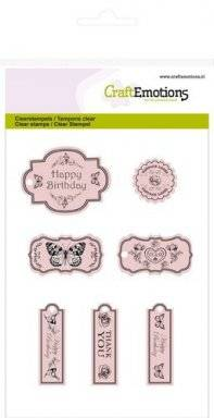 Clearstamps 1018 botanical tags | Craftemotions