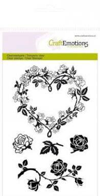 Clearstamps 1120 roses hearts   Craftemotions