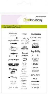 Clearstamps 1146 texts small | Craftemotions