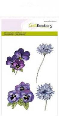 Clearstamps 1092 violets | Craftemotions