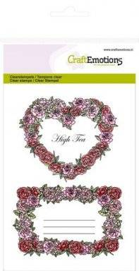 Clearstamps 1064 roses labels | Craftemotions