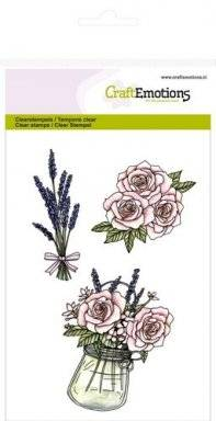 Clearstamps 1063 roses lavender | Craftemotions