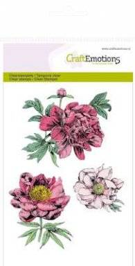 Clearstamps 1121 peonies | Craftemotions