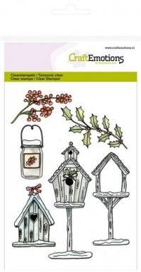Clearstamps 1222 birdhouses   Craftemotions