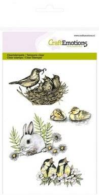 Clearstamps 1238 birds rabbit | Craftemotions