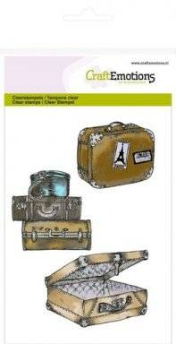 Clearstamps 1114 suitcases | Craftemotions