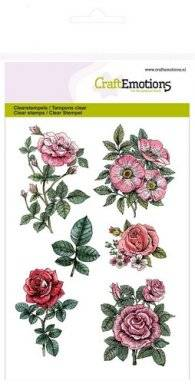 Clearstamps 1241 rose garden | Craftemotions