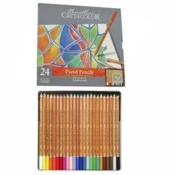 Pastelpotloden blik 24 kleuren | Cretacolor