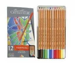 Pastelpotloden blik 12 kleuren | Cretacolor