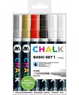 Chalkmarker 4mm round set basic   Molotow