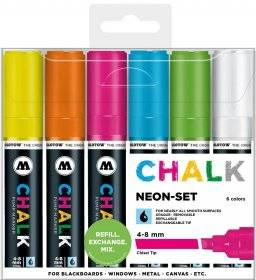 Chalkmarker 4-8mm set neon | Molotow