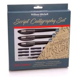 william mitchell script calligraphy set 35909