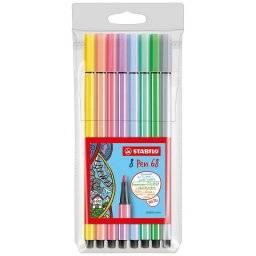 Pen 68 etui 8 pastel kleuren | Stabilo