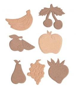 Set 7st mdf figuren fruit | Pronty
