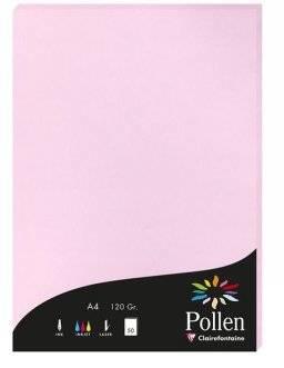 Pollen papier A4 120 gr. 50 vel | Clairfontaine