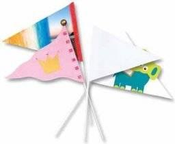 Papieren zwaaivlaggetjes punt | Folia